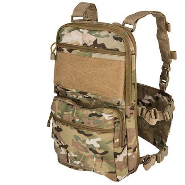 Lancer Tactical Airsoft Tactical Vest 1 Lancer Tactical 1000D Nylon QD Chest Rig and Backpack Combo (CAMO)