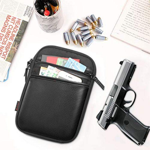FINPAC Pistol Case 7 FINPAC Concealed Carry Gun Pouch, Pistol Holster Fanny Pack Waist Pocket for Handgun with Belt Loops, Black