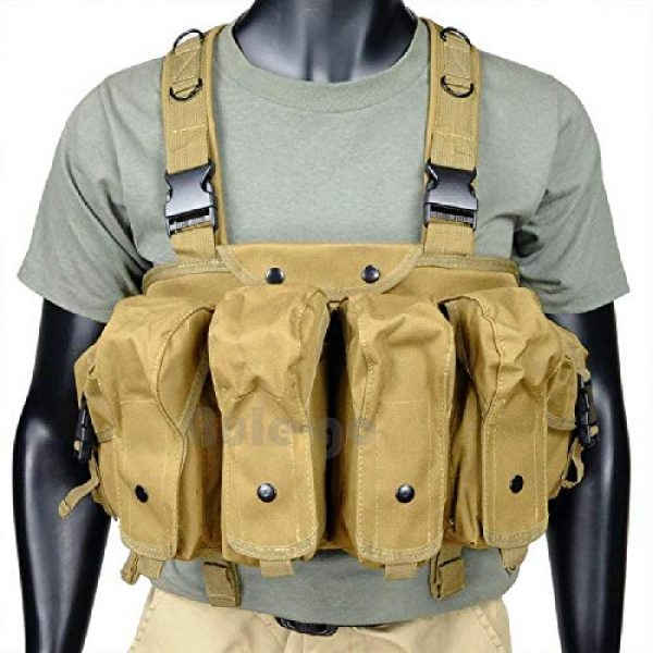 BGJ Airsoft Tactical Vest 3 BGJ Tactical Vest Airsoft Ammo Chest Rig AK 47 Magazine Carrier Camouflage Combat Vest Tactical Military Army Equipment