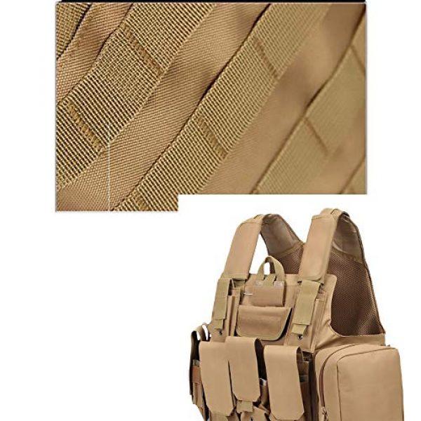 WEQ Airsoft Tactical Vest 3 WEQ Tactical Molle Airsoft Vest Paintball Combat Training Vest Adjustable (Color : Beige)
