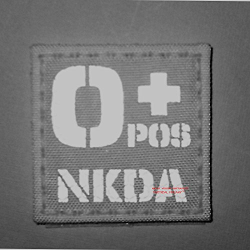 Tactical Freaky Airsoft Morale Patch 2 Digital Desert AOR1 Infrared IR OPOS NKDA O+ Blood Type 2x2 Tactical Morale Hook-and-Loop Patch