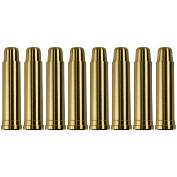 UHC Airsoft Gun Magazine 1 UHC MUG131BRASS Metal Airsoft Shells Magazines for Gas Revolvers 8 Pieces