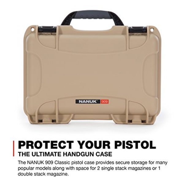Nanuk Pistol Case 2 Nanuk Waterproof Hard Case for Revolvers with Custom 3UP Foam Insert