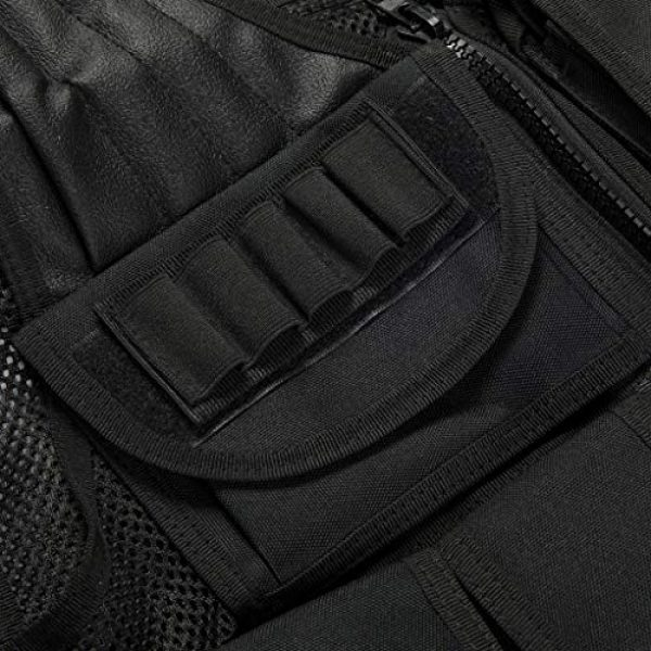 Jipemtra Airsoft Tactical Vest 6 Jipemtra Tactical MOLLE Airsoft Vest Adjustable Paintball Combat Training Vest Detachable for Hunting Mountaineering Outdoors (Black)