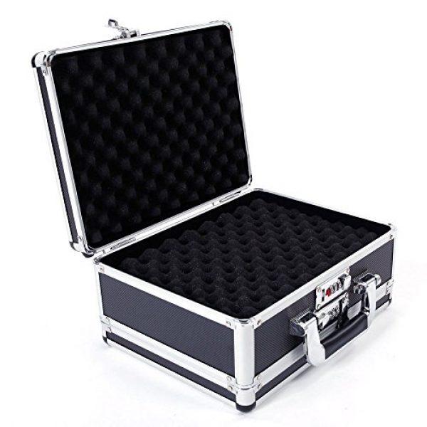 "brandless Pistol Case 7 Gun Security Safe Cabinet, Portable Aluminum Framed Gun Lock BoxDual Pistol Firearm and Valuables Safe with 3 Digits Combination Lock, Silver 11.81"" x 5.91"" x 9.05"""