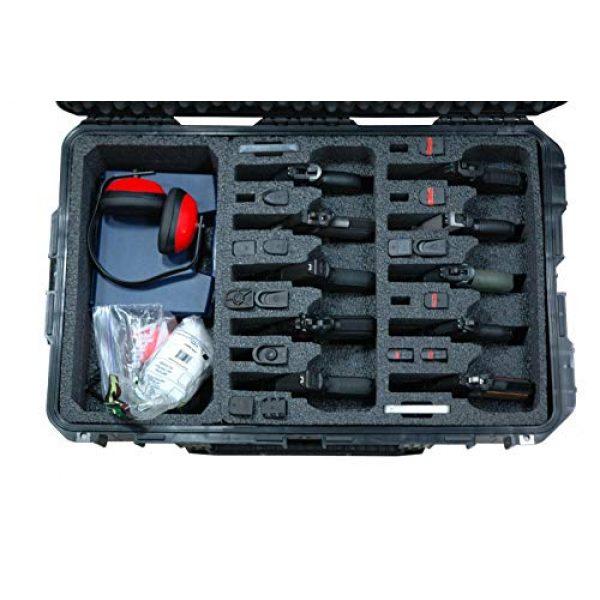Case Club Pistol Case 2 Case Club 10 Pistol & Accessory Pre-Cut Waterproof Case with Silica Gel to Help Prevent Gun Rust