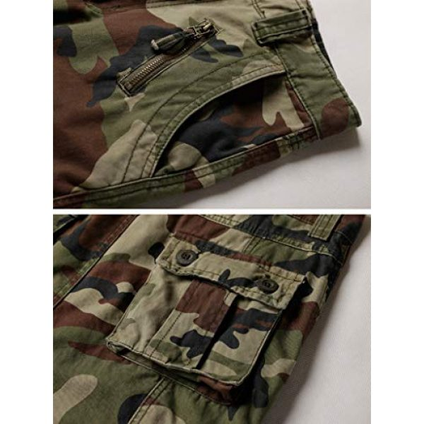TRGPSG Tactical Pant 4 Women's Casual Combat Cargo Pants, Cotton Outdoor Camouflage Military Multi Pockets Work Pants 8