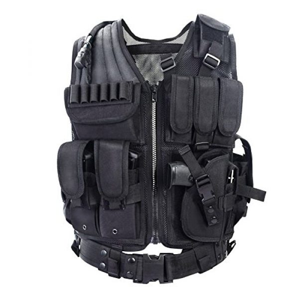 TongBF Airsoft Tactical Vest 1 TongBF Tactical Outdoor Military CS Field Vest Ultra-Light Breathable Combat Training Adjustable Vest