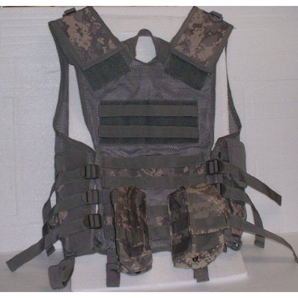USA Military Surplus Airsoft Tactical Vest 3 Molle Chest Rig Platform Carrier Digital ACU Camo Tactical Load Carrier
