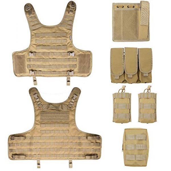 MGFLASHFORCE Airsoft Tactical Vest 6 MGFLASHFORCE Tactical Airsoft Vest Adjustable Modular Paintball Vest