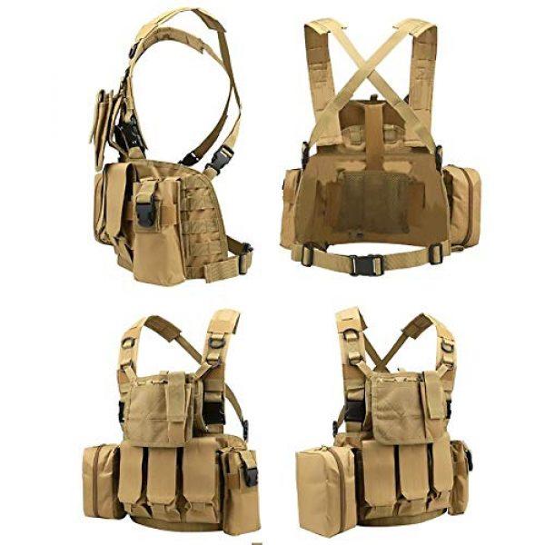 WEQ Airsoft Tactical Vest 5 WEQ Multifunctional Tactical Vest Modular Vest Reconnaissance Field CS Combat Vest (Color : #E)