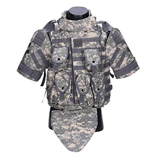 BGJ Airsoft Tactical Vest 3 Tactics Camouflage Vest Phantom Protective Modular Vest Body Armor Airsoft Wargame Hunting Outdoor Sports Activities