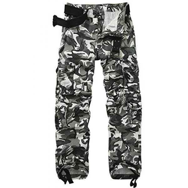 AKARMY Tactical Pant 1 Men's Military Tactical Pants Work Cargo Pants Casual Relaxed Fit Trousers with Multi Pockets