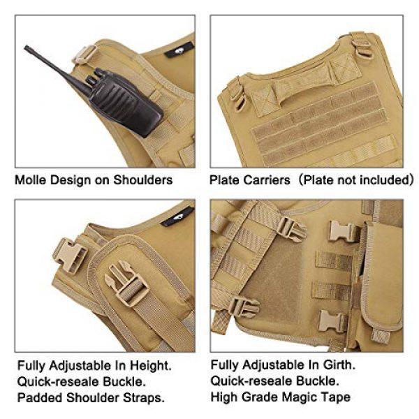 MGFLASHFORCE Airsoft Tactical Vest 5 MGFLASHFORCE Tactical Airsoft Vest Adjustable Modular Paintball Vest