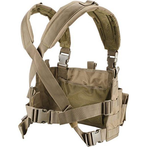 Loaded Gear Airsoft Tactical Vest 2 Loaded Gear Chest Rig Vest Law Enforcement Vest Breathable Combat Training Vest Adjustable Lightweight (Tan)