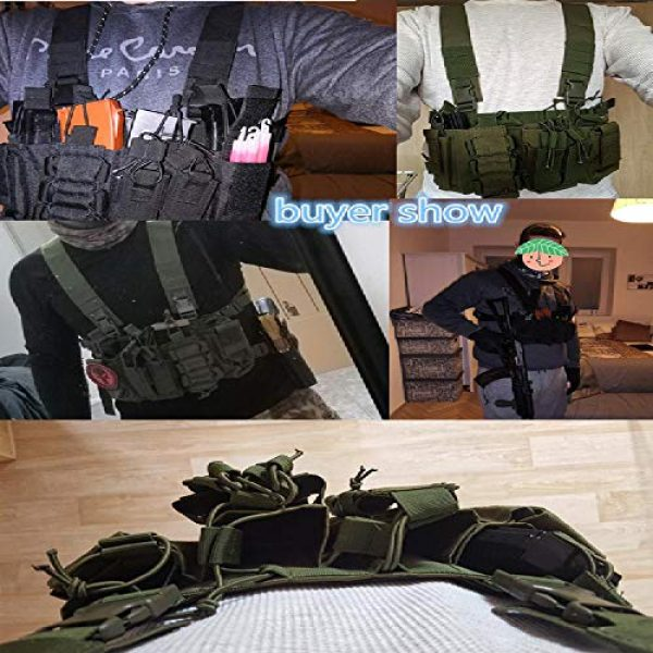 BGJ Airsoft Tactical Vest 5 BGJ Military Equipment Tactical Vest Airsoft Paintball Carrier Strike Chaleco Chest rig Pack Pouch Light Weight Heavy Duty Vest