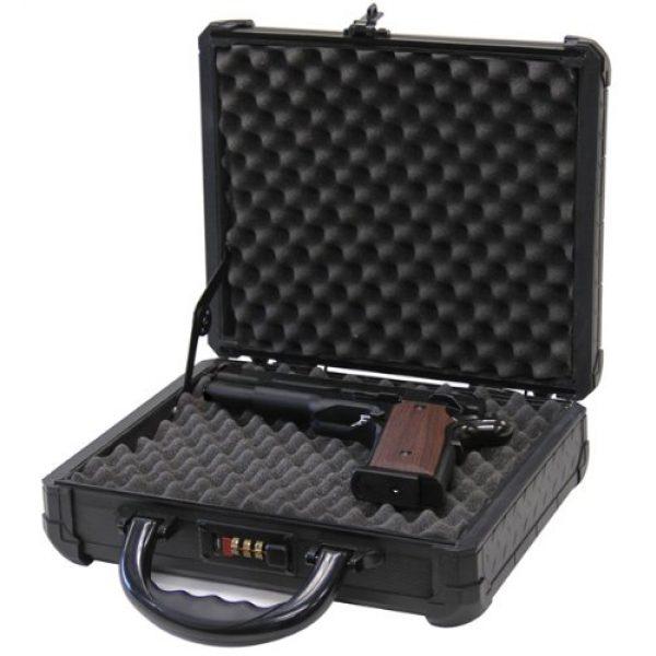 T.Z. Case International Pistol Case 3 T.Z. Case International TZM0011 BD 12 x 9 1/2 x 3 1/2-Inch Single Pistol Case, Black Dot Finish