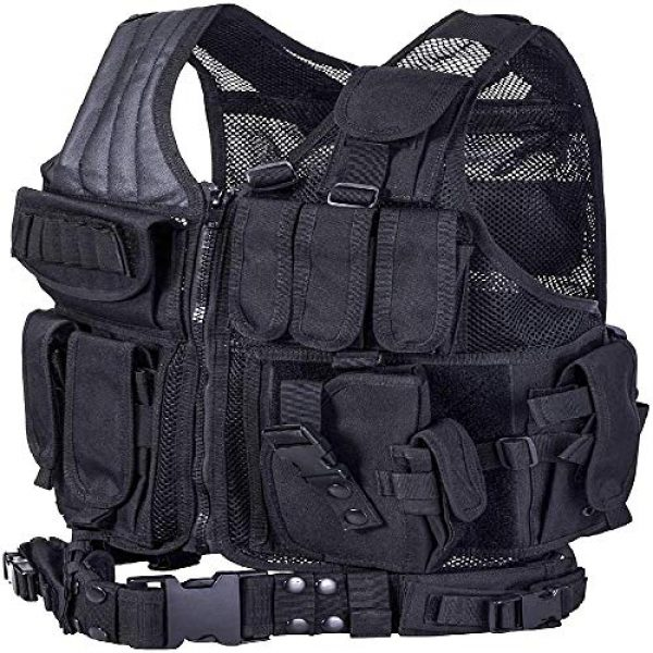 BGJ Airsoft Tactical Vest 3 Tactical Vest Adjustable Molle Swat Army Military Combat Assault Body Armor Hunting Fishing Shooting Airsoft Vest