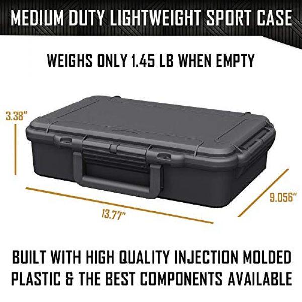 MY CASE BUILDER Pistol Case 5 1 Pistol 2 Magazine + Accessory Medium Duty Lightweight Waterproof Single Gun Sport Case - Doro Cases with Custom Mycasebuilder Foam Insert