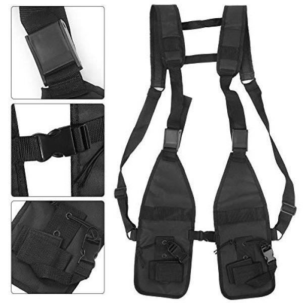 Alomejor Airsoft Tactical Vest 2 Alomejor Tactical Training Vest Simple Adjustable Vest Chest Backpack Army Fans Tactical Vest Outdoor Fitness Sports Training Suit for Airsoft Paintball Training