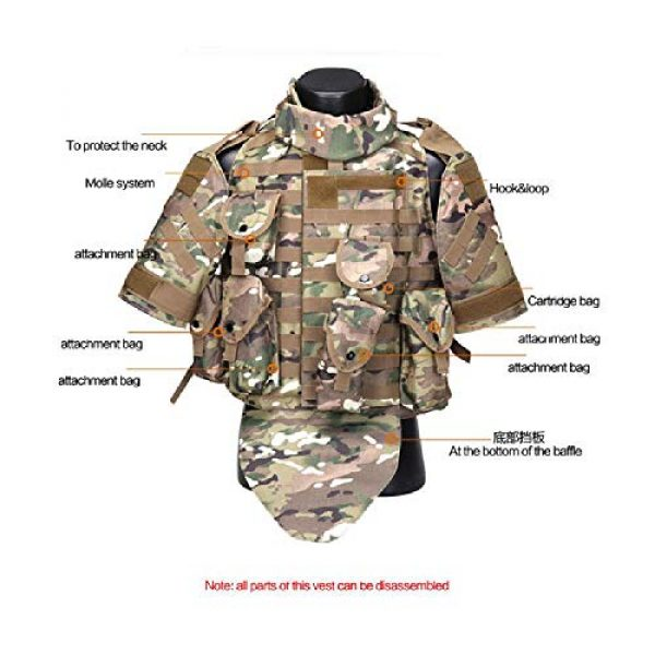 BGJ Airsoft Tactical Vest 6 Tactics Camouflage Vest Phantom Protective Modular Vest Body Armor Airsoft Wargame Hunting Outdoor Sports Activities