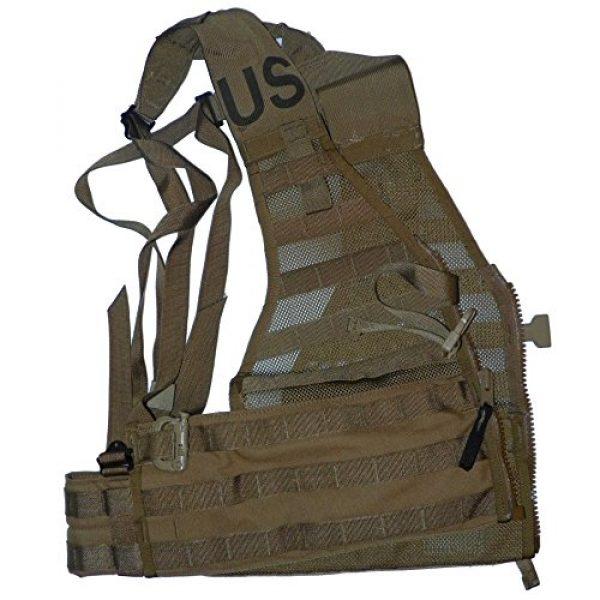 U.S.G.I. Airsoft Tactical Vest 3 2 X USMC Tactical FLC Vest, Fighting Load Carrier w/ Zipper, Coyote Brown, MOLLE II