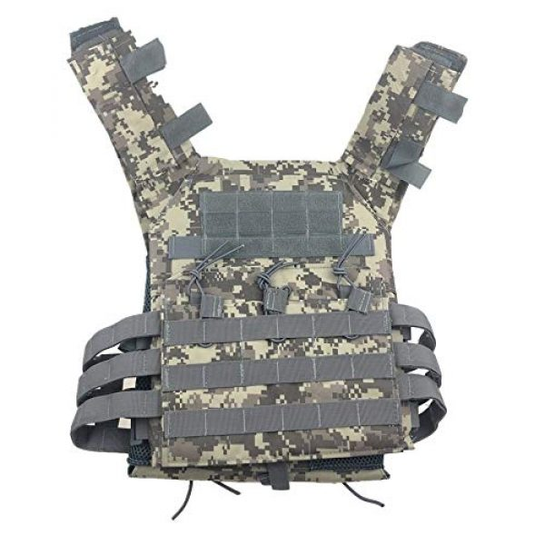 BGJ Airsoft Tactical Vest 7 BGJ Men Hunting Tactical Vest Military Molle Plate Carrier Magazine Airsoft Paintball CS Outdoor Protective Lightweight Vest