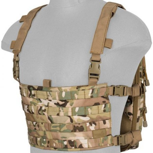 Lancer Tactical Airsoft Tactical Vest 7 Lancer Tactical 1000D Nylon QD Chest Rig and Backpack Combo (CAMO)
