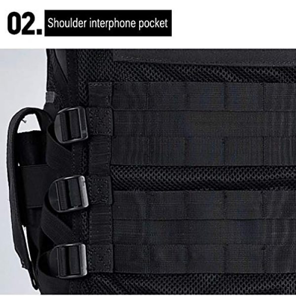 Moontie Airsoft Tactical Vest 5 Moontie Tactical Vest, Multi-Pocket SWAT Army CS Hunting Vest Camping Hiking Accessories Outdoor Hunting Hiking Camping Equipment