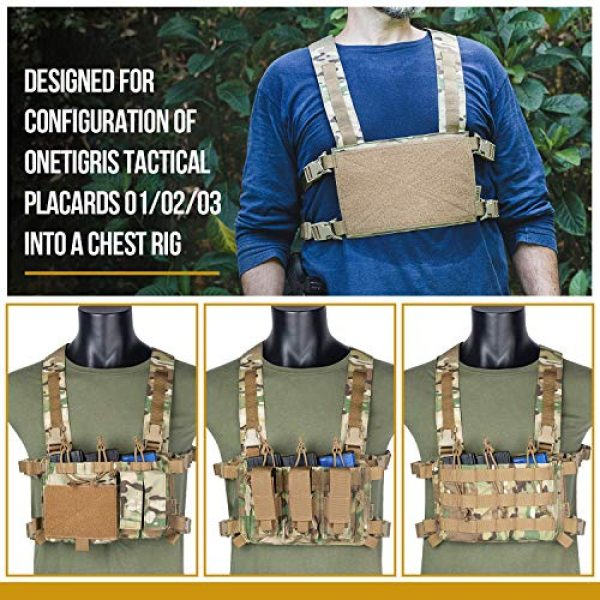OneTigris Airsoft Tactical Vest 5 OneTigris Chest Rig Tactical Panel Placard Adapter (Multicam)