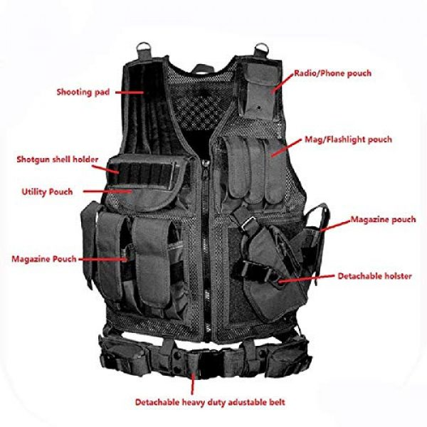 BGJ Airsoft Tactical Vest 5 BGJ Military Equipment Tactical Vest Police Training Combat Armor Gear Army Paintball Hunting Airsoft Vest Molle Protective Vests