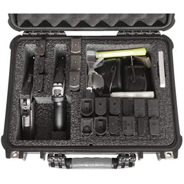 Case Club Pistol Case 3 Case Club Waterproof 2 Pistol Case & Accessory Pocket with Silica Gel