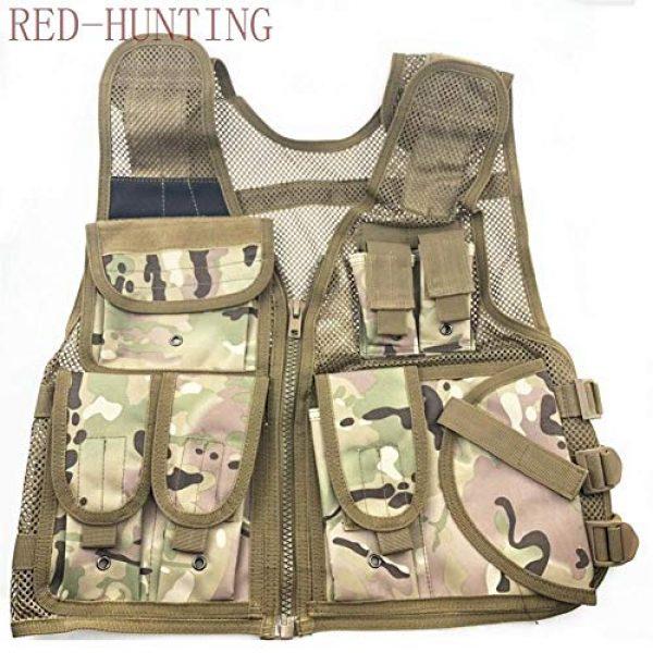 Shefure Airsoft Tactical Vest 2 Shefure New Adjustable Tactical Combat Training Vest Lightweight Mesh Tactical Breathable Vest Black