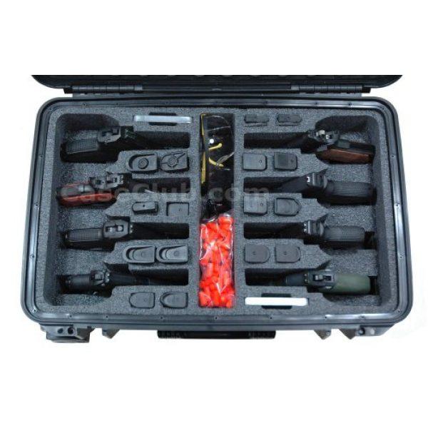 Case Club Pistol Case 2 Case Club 8 Pistol Pre-Cut Waterproof Case with 2 Silica Gel Canisters to Help Prevent Gun Rust