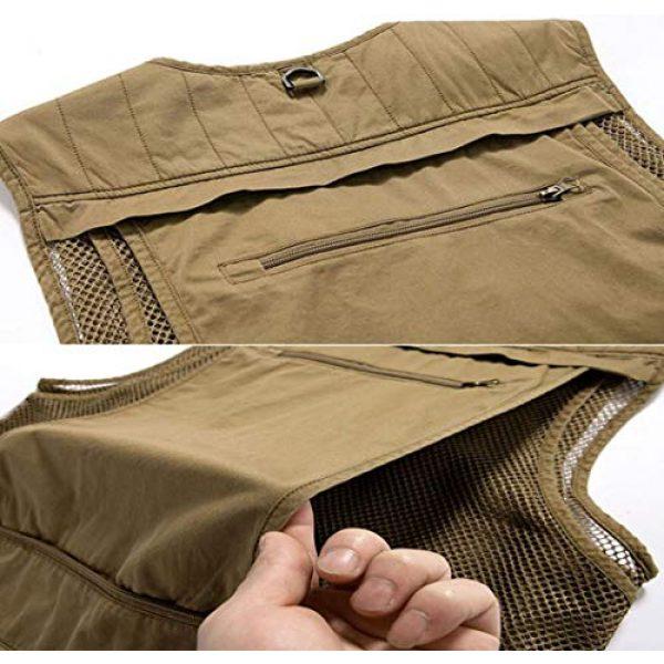 DAFREW Airsoft Tactical Vest 6 DAFREW Multi-Pocket Vests Vests Men's Casual Fishing Photography Vests mesh Breathable Vest (Color : Army Green, Size : L)