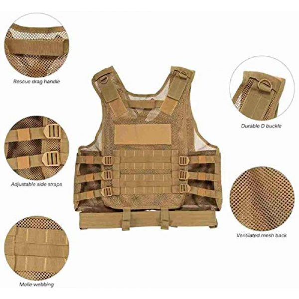 Hunting Explorer Airsoft Tactical Vest 3 600D Polyester Military Equipment air Gun Tactical Vest, Used for Military Combat Training, CS, Paintball Shooting and Other Airsoft Combat Protective Vests.