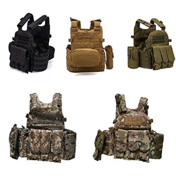 BGJ Airsoft Tactical Vest 2 Men 6094 Multicam Camo Tactical Vest Molle Modular Body Ammo Airsoft Paintball Combat Military Hunting Vest Clothes Accessories