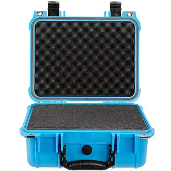 Eylar Pistol Case 2 Eylar Tactical Hard Gun Case Water & Shock Proof with Foam 13.37 inch 11.62 inch 6 inch Light Blue