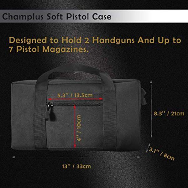 Champlus Pistol Case 2 Pistol Range Bag Tactical Pistol Bag Range Bags for Handguns and Ammo Soft Pistol Case Gun Range Bag for Handguns, Pistols and Ammo Shooting Range Pistol Bag Handgun Magazine Pouch-Black 1 Pack