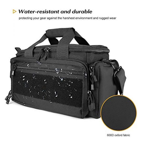 ProCase Pistol Case 4 ProCase Tactical Gun Range Bag Pistol Shooting Duffle Bag Bundle with Noise Reduction Safety Ear Muffs Headset SNR 36dB Earmuffs for Ear Hearing Protection