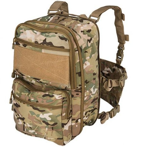 Lancer Tactical Airsoft Tactical Vest 4 Lancer Tactical 1000D Nylon QD Chest Rig and Backpack Combo (CAMO)
