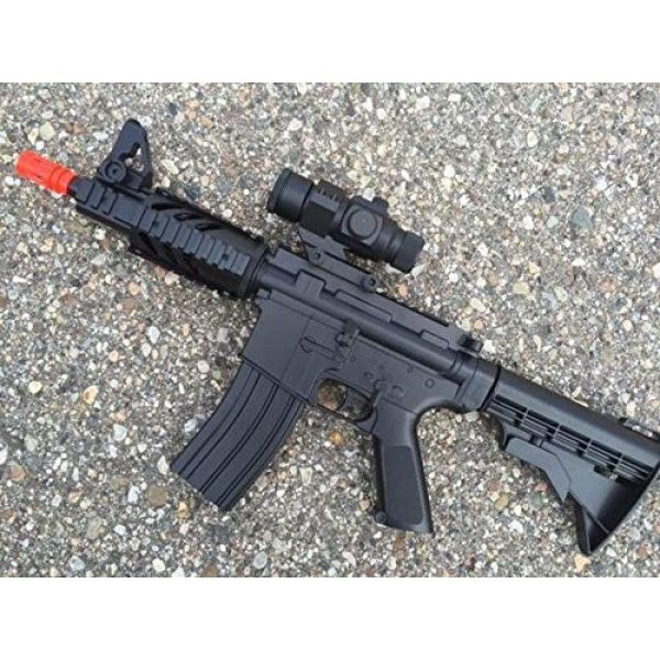 Velocity Airsoft Airsoft Rifle 1 Well D2806 M4 Electric Airsoft Gun Collapsible Stock Fps-250 Full Auto (Airsoft Gun)