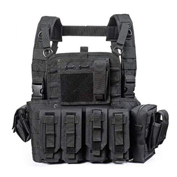 GXYWAN Airsoft Tactical Vest 1 GXYWAN Tactical CS Field Vest Paintball Training Air Gun Super Light Breathable Combat Adjustable Vest