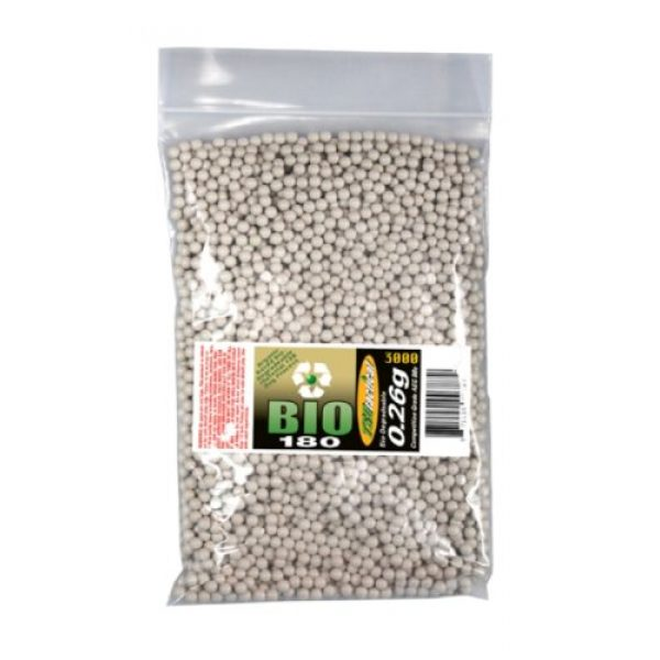 TSD Airsoft BB 1 TSD Tactical 3,000 ct. Bag Biodegradeable White Airsoft BBS (6mm, 0.26g)