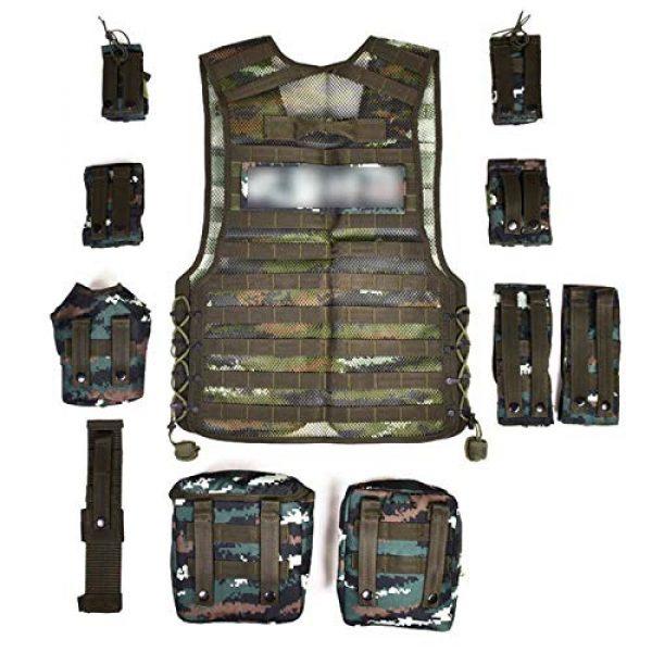 Armiya Airsoft Tactical Vest 2 Armiya Versatile Tactical Vest Removable Mesh Breathable Adjustable for Adult Outdoor