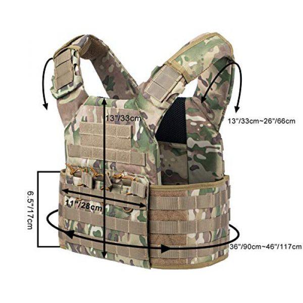 VISMIX Airsoft Tactical Vest 4 VISMIX Tactical Vest Adjustable Molle Military Vest for Men