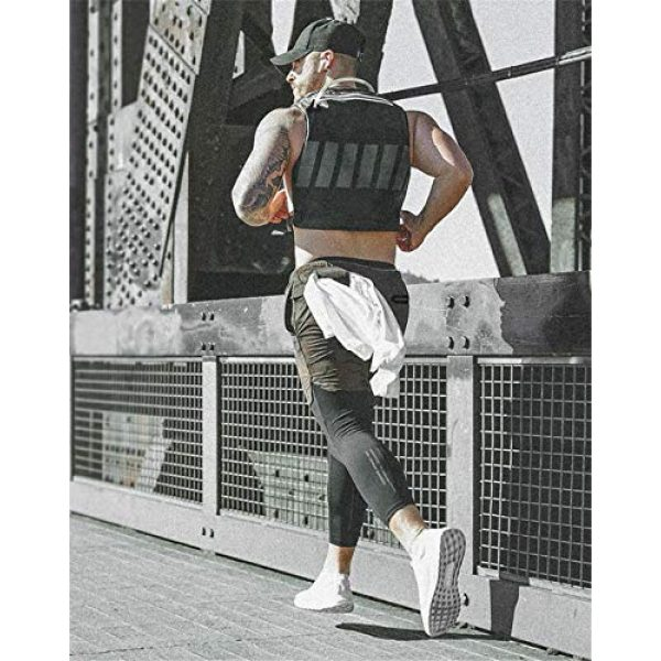 Armiya Airsoft Tactical Vest 6 Mens Molle Tactical Military Chest Rig Law Enforcement Work Reflective Vest Combat Condor Security Training Tool Pouch for Outdoor Paintball CS Game Airsoft Climbing Hiking (Black)