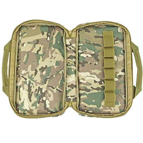 JFFCE Pistol Case 5 JFFCE Tactical Molle Pistol Storage case for Single Pistol and Mag with Heavy Duty Double Zippers