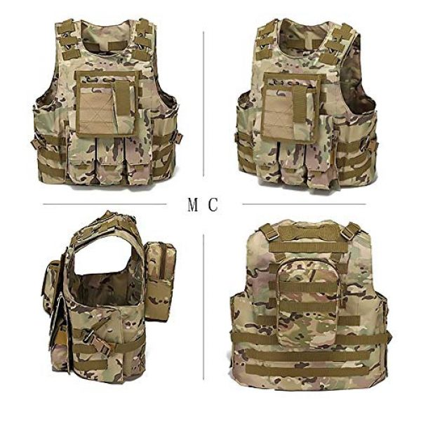 WEQ Airsoft Tactical Vest 2 WEQ Tactical Vest Outdoor Amphibious Vest Ultra-Light Breathable Combat Training Vest Adjustable for Adults(Standard Size) (Color : #G)