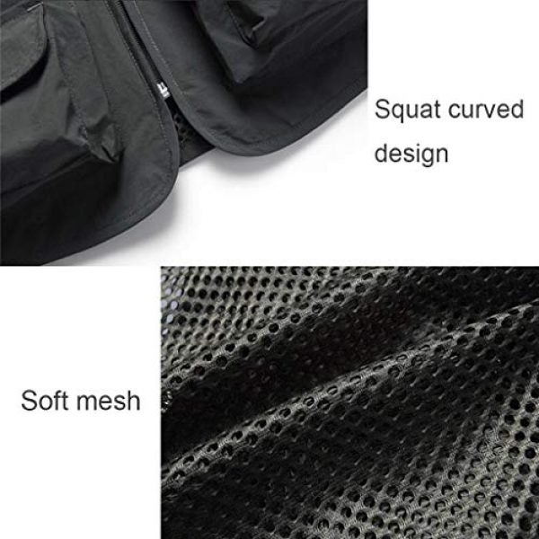 ZHYLOVE Airsoft Tactical Vest 7 ZHYLOVE Multifunction Mens Fishing Vest Jacket Mesh Vest Sleeveless Multi-Pocketed Thin Section Outdoor Breathable Hollow Out Thin for Camping Photography Fishing Hunting Waistcoat